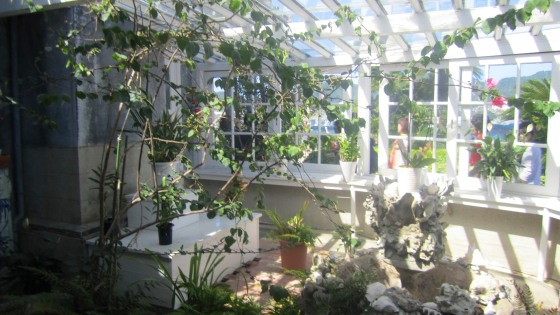 Sun room at Glover's home