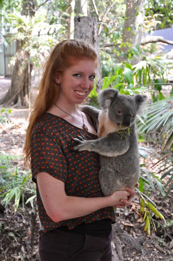 I cuddled a koala!