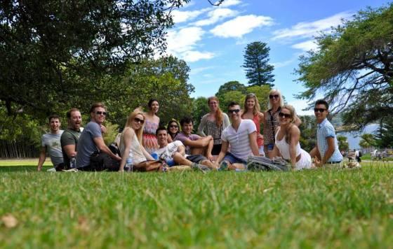 The gang at a picnic