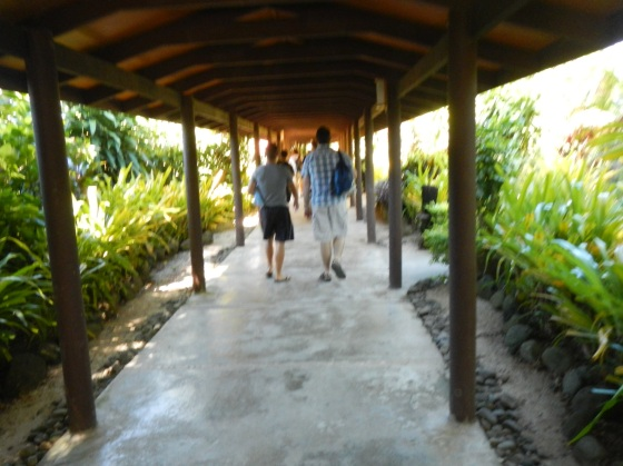 Entering the resort