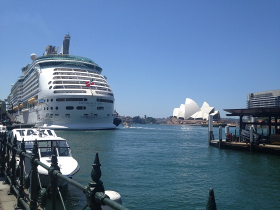 At the port in Sydney.  Such a great location!