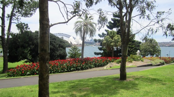 View from the gardens