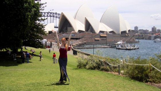 Outside the Opera House