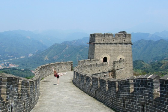 Dancing on the Great Wall