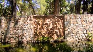In a park in Malaga