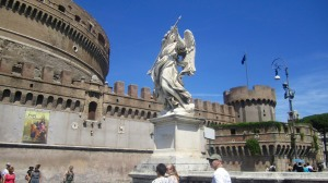Outside Castel Sant'Angelo