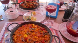 Giant portion of paella