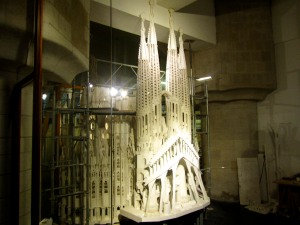 Model of La Sagrada Familia