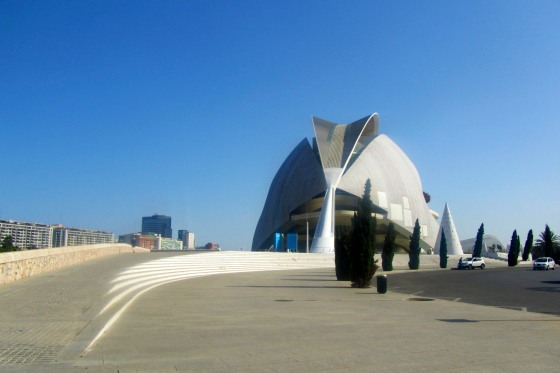 First view of the City of Arts and Sciences