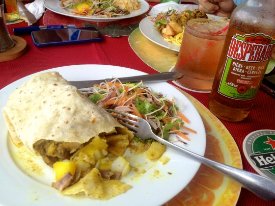 Lunch in St. Lucia