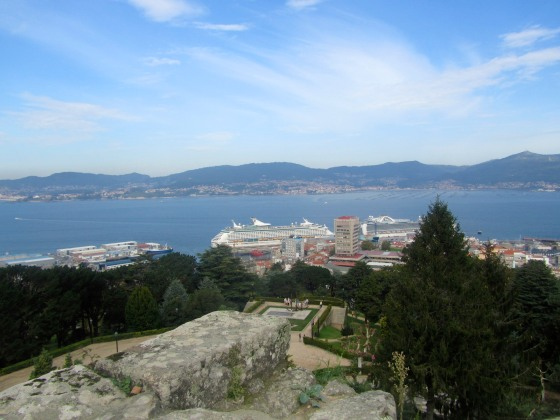 View of the ship in Vigo