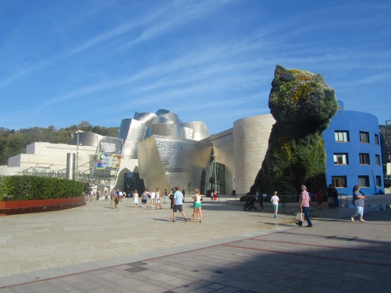 Outside the Guggenheim