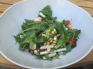 Greens Salad with Shrimp