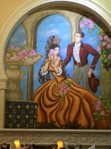 Mural at the restaurant