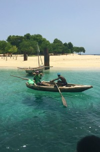 Local fishermen at Amiga Island