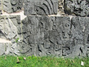 Carvings picturing the separated head